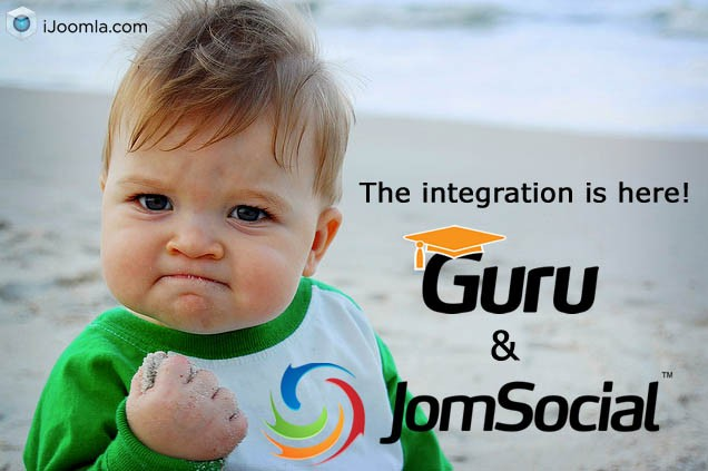 JomSocial & Guru Integration - 4 Plugins Available