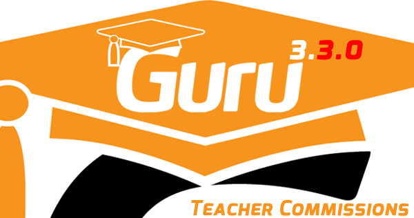 Guru's New 3.3.0 With New Teacher Commissions